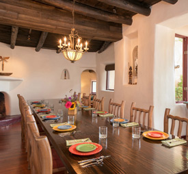 A beautiful dining room dinner setting for 12