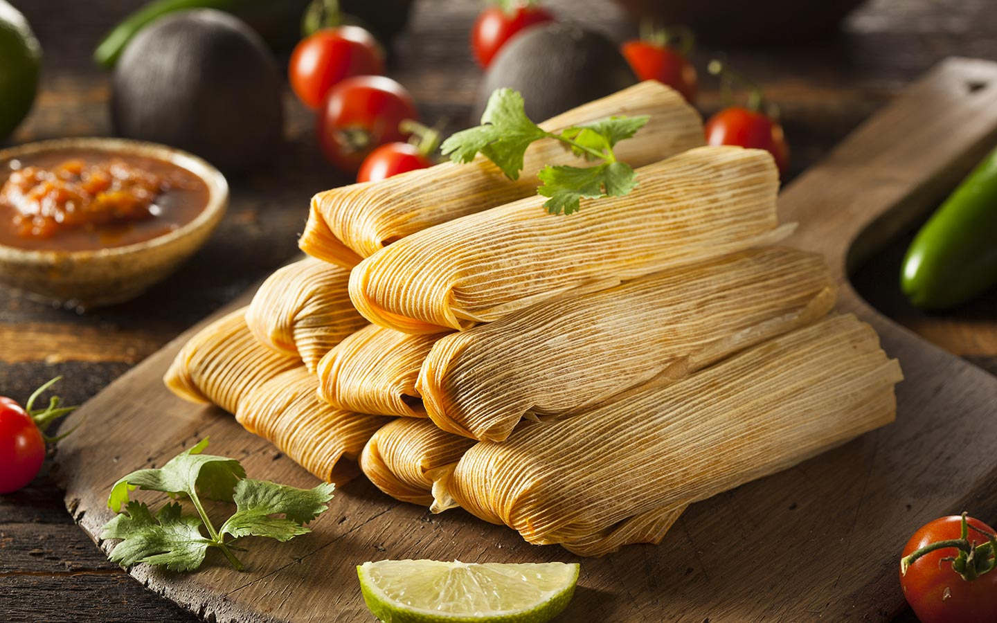 Plate of New Mexican Tamales