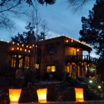 The inn during Christmas in Santa Fe