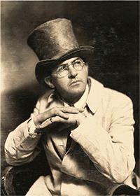 Historical picture of Witter Bynner in top hat