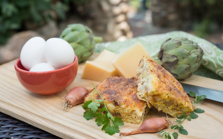 Breakfast in Santa Fe - Artichoke Frittata