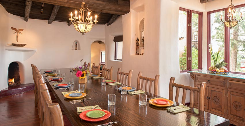 Breakfast settings for up to 12 at our Santa Fe Inn