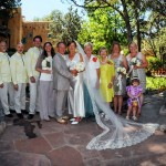 A photo of the wedding party
