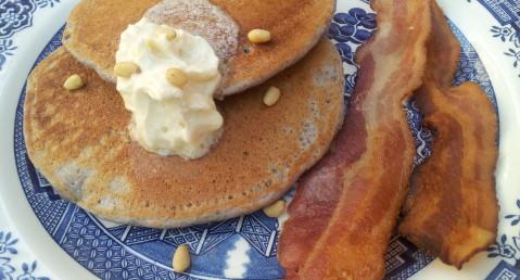 Blue Corn Pinon Pancakes