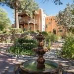 A photo of the garden fountain
