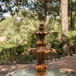 Inn's garden fountain