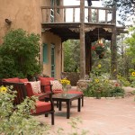 Main patio at the Inn of the Turquoise Bear