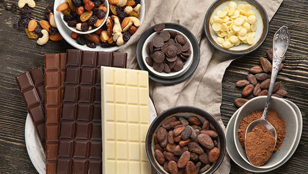 cacao beans and bars on the Santa Fe Chocolate Trail