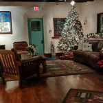 Inn's living room at Christmas