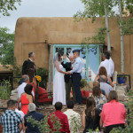 A man and wife at the alter