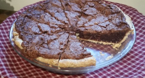 Inn's classic Bourbon Chocolate Pecan Chess Pie