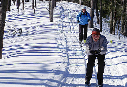 Cross country skiing in Santa Fe