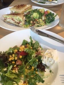 vinaigrette salad sand - lunch in Santa Fe