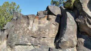 rock art at La Cieneguilla Petroglyph Site