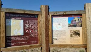 Trail head at La Cieneguilla Petroglyph Site