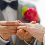 rings exchanged at wedding ceremony at the Inn