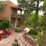 Main patio for relaxing at Inn of the Turquoise Bear