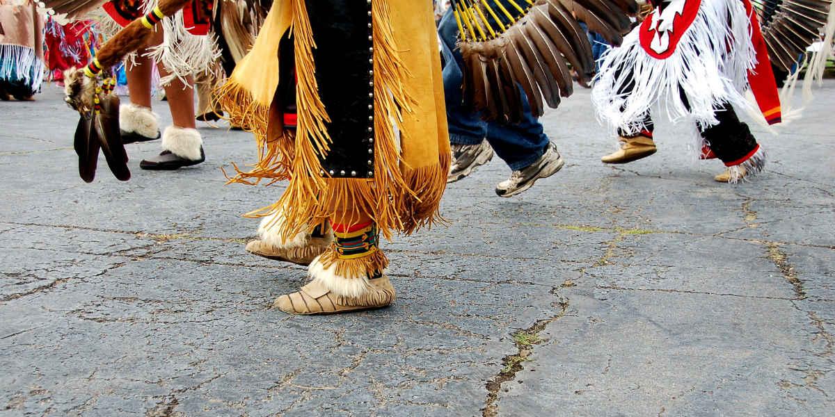 San Ildefonso Pueblo - Native Americans Dancing