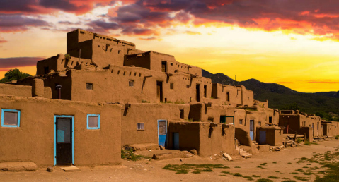 Taos-Pueblo in New Mexico