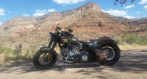 Innkeeper's motorcycle near Jemez