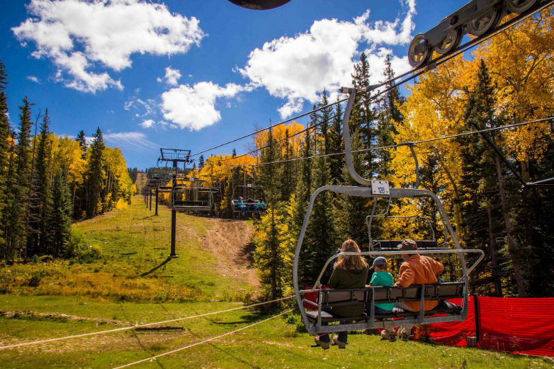 Santa Fe Ski Basin Chairlift in Autumn