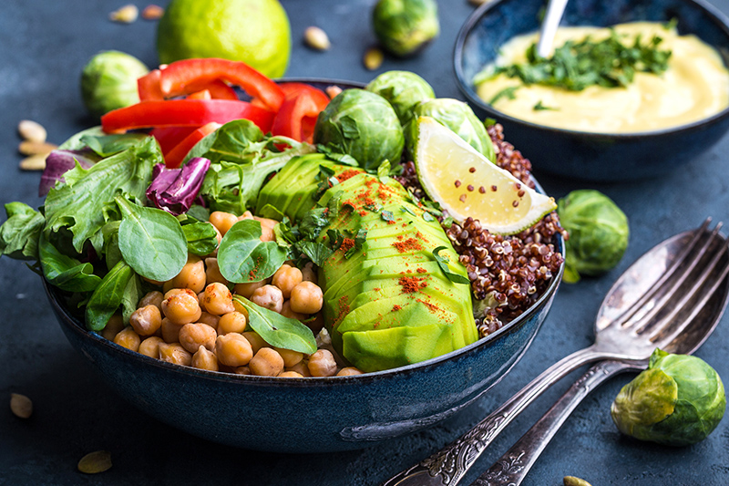 Healthy Vegetarian Buddha Bowl Salad