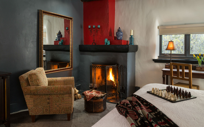 Witter Bynner Room fireplace