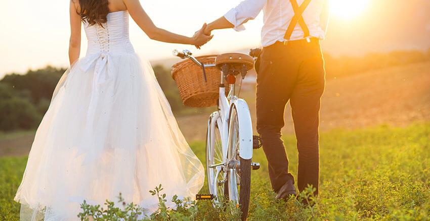 Bride and groom at our Santa Fe wedding venue
