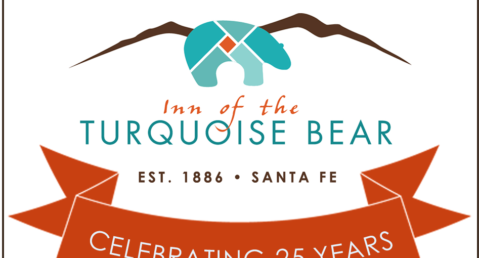 Inn of the Turquoise Bear Logo with 25th Anniversary Banner