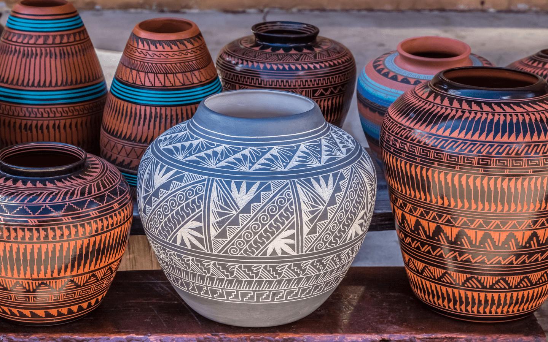 Beautiful Native American pottery.